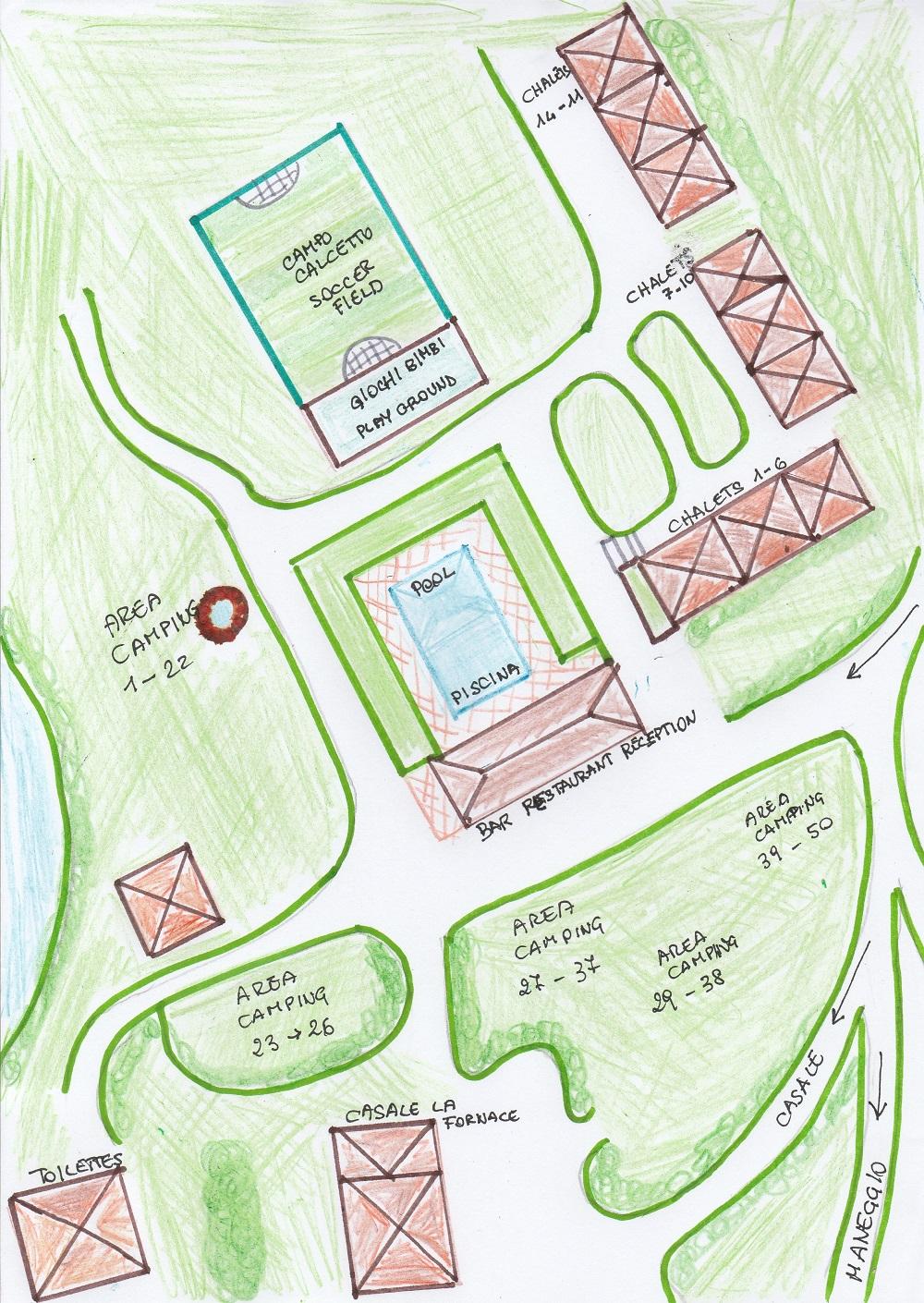 Mappa Campeggio Rio Verde Costacciaro
